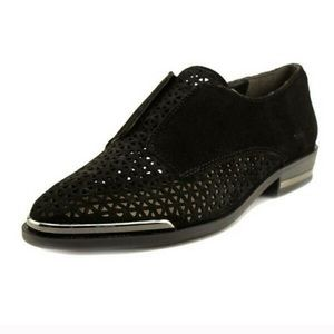 Fergie black suede shoes size 9. Like new